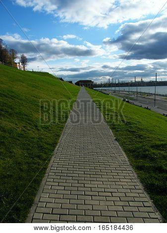 View Of The Embankment  The Izhevsk