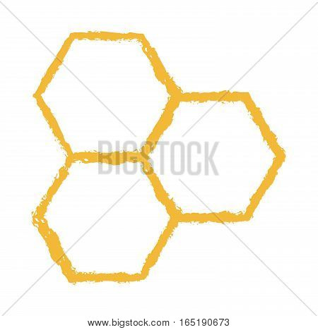 Bee comb vector icon isolated logo polygon