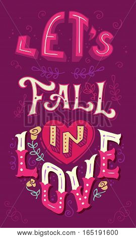 Let's Fall In Love.