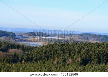 view of autumn landscape southern Bohemia . Czech Republic