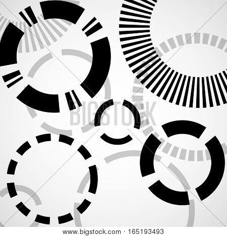 Abstract background with circles geometric shapes, vector