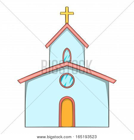 Church icon. Cartoon illustration of church vector icon for web