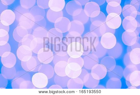 Photo abstract Violet gentle background bokeh circles