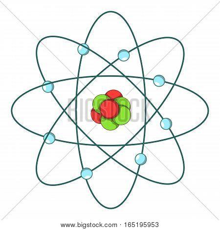 Atom icon. Cartoon illustration of atom vector icon for web