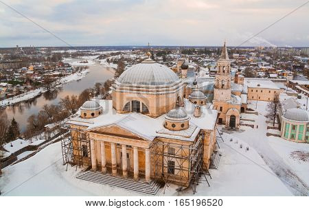 Restoration of the ancient Russian Boris and Gleb Monastery in Torzhok