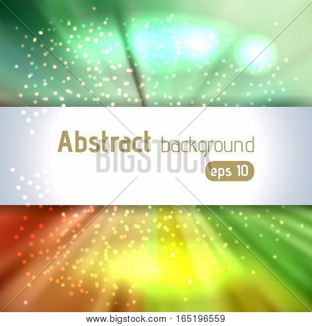 Abstract Artistic Background With Place For Text. Color Rays Of Light. Original Sparkle Design. Blue