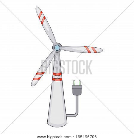 Windmill icon. Cartoon illustration of windmill vector icon for web