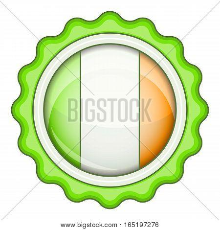 Ireland emblem icon. Cartoon illustration of ireland emblem vector icon for web