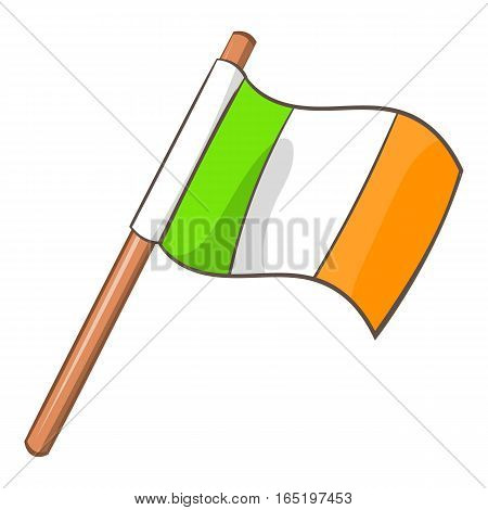 Ireland flag icon. Cartoon illustration of ireland flagvector icon for web