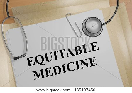 Equitable Medicine - Medical Concept
