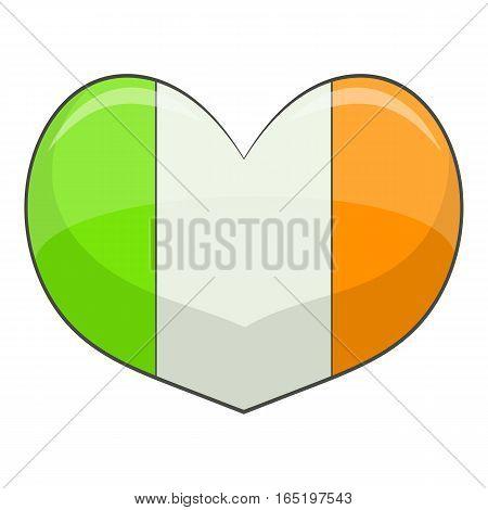 Ireland heart icon. Cartoon illustration of ireland heart vector icon for web