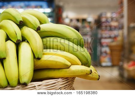 Bananas Basket On Sale In Food Shop