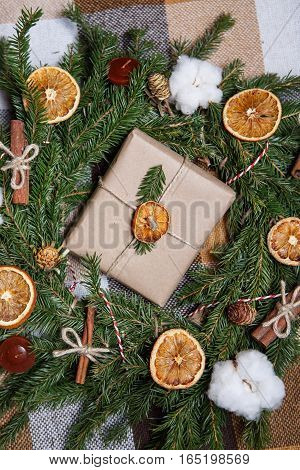 New Year And Christmas Gift Box Package