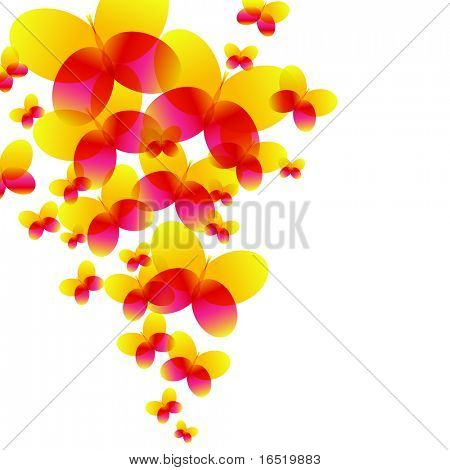 Abstract Rainbow Butterfly Background for Elegant Flyers