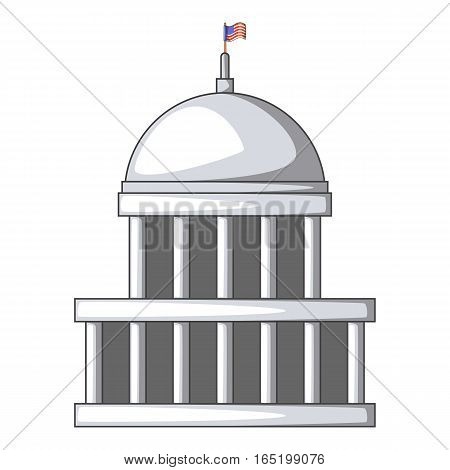 White house icon. Cartoon illustration of white house vector icon for web