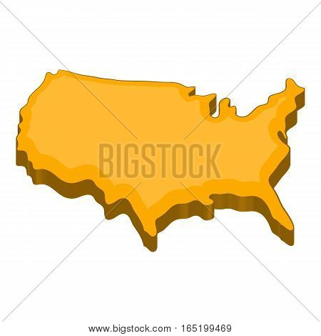 American map icon. Cartoon illustration of american map vector icon for web
