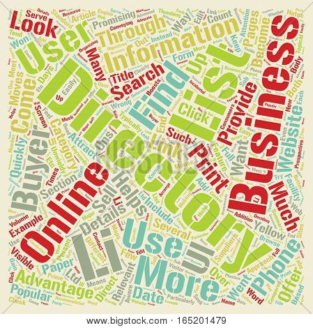 Business Directory Moves From Paper to Computer Screen text background wordcloud concept