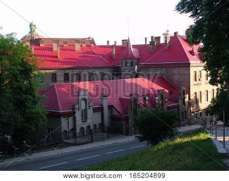Old Town of Lviv, Ukraine. Main Department Ministry of Emergencies