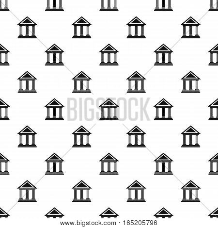 Museum building pattern. Simple illustration of museum building vector pattern for web