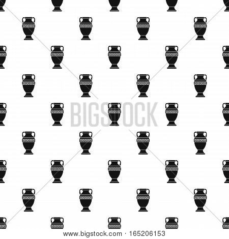 Ancient vase pattern. Simple illustration of ancient vase vector pattern for web
