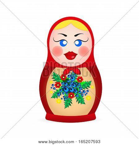 Russian dolls set logo silhouette vector illustration.