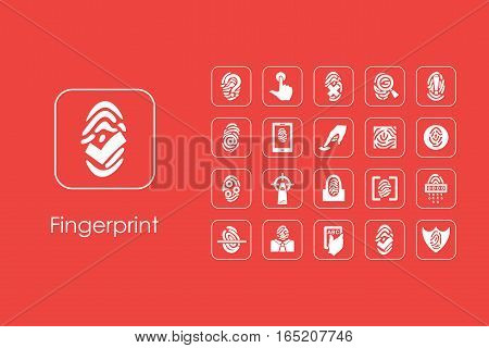 It is a set of fingerprint simple web icons