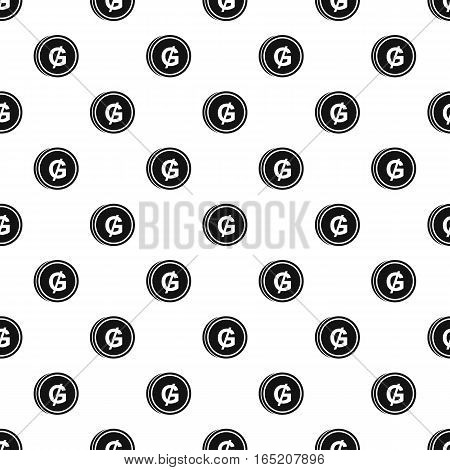 Coin with guarani of Paraguay sign pattern. Simple illustration of coin with guarani of Paraguay sign coin vector pattern for web