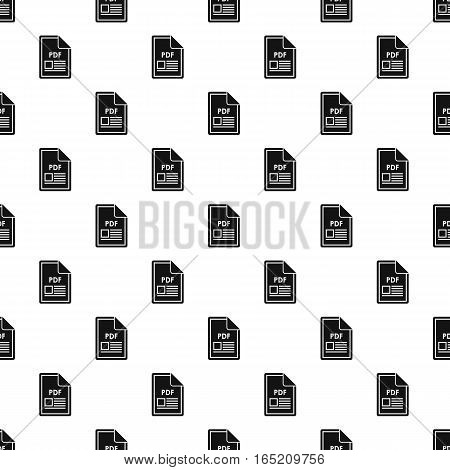 PDF file pattern. Simple illustration of PDF file vector pattern for web