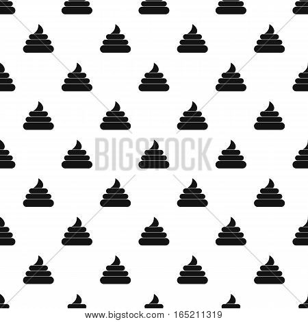 Poop pattern. Simple illustration of poop vector pattern for web