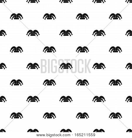 Jester hat pattern. Simple illustration of jester hat vector pattern for web