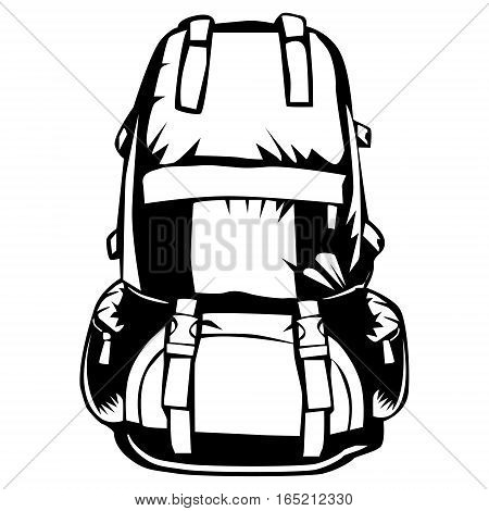 Camping Backpack Isolated On White