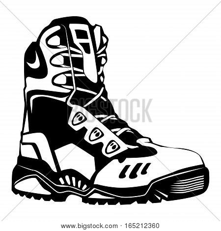 Camping Boots Isolated