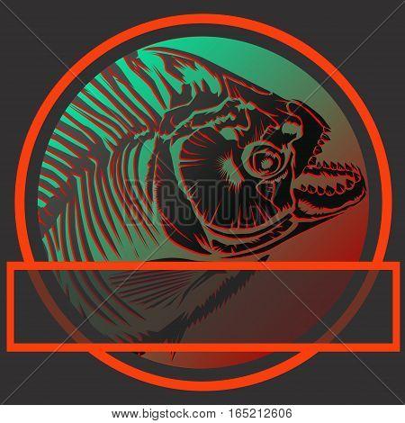 Piranha Fishing Logo Without Text