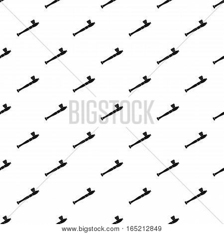 Pipe for smoking weed pattern. Simple illustration of pipe for smoking weed vector pattern for web