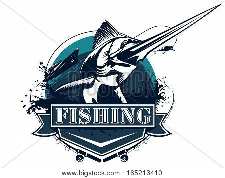 Sword Fishing Logo Big