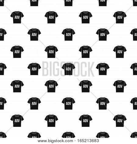 Shirt with ADV inscription pattern. Simple illustration of shirt with ADV inscription vector pattern for web