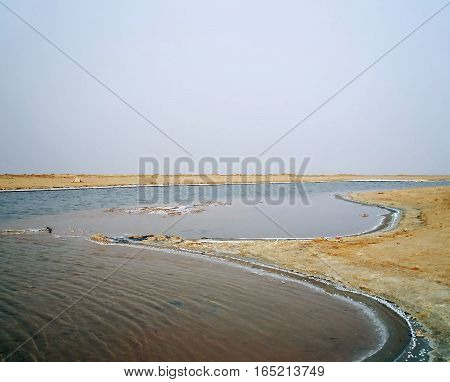 Chott el Djerid (biggest salt lake in North Africa), Tunisia