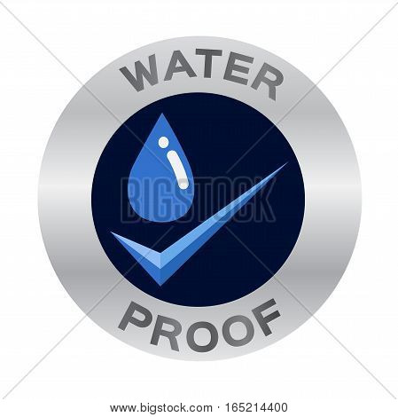 water proof icon vector on white background