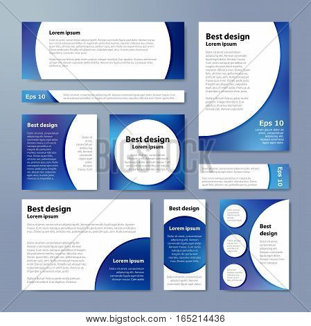 Blue Corporate Identity Design Template Circles. Vector Company Style For Brandbook