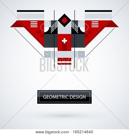 Abstract Symmetric Design Made Of Geometric Shapes. Useful As Print, Illustration, Cd Or Book Cover.