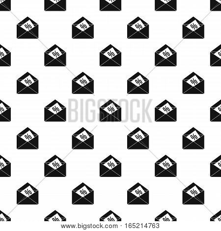 Card with percent sign in the envelope pattern. Simple illustration of card with percent sign in the envelope vector pattern for web