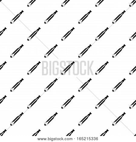 Electronic cigarette atomizer pattern. Simple illustration of electronic cigarette atomizer vector pattern for web