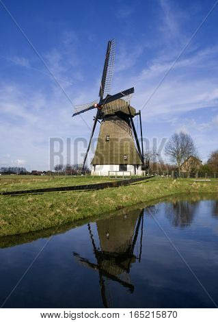 The Vervoorne mill near Werkendam in the Dutch province Noord-Brabant