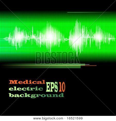ECG Electrocardiogram medical background. Vector.