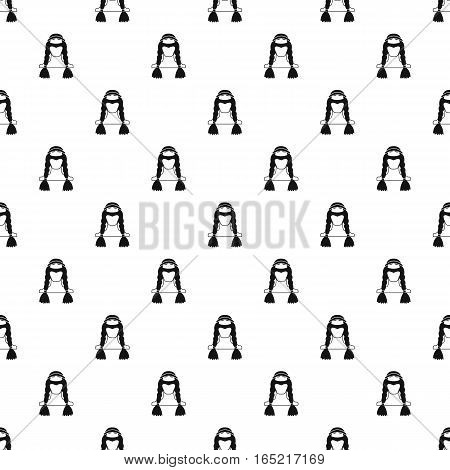 American indian girl pattern. Simple illustration of american indian girl vector pattern for web