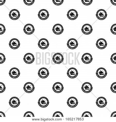 Columbus Day sticker pattern. Simple illustration of Columbus Day sticker vector pattern for web