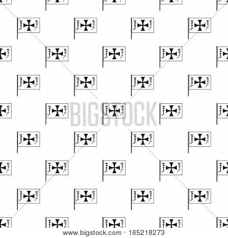 Christopher Columbus flag pattern. Simple illustration of Christopher Columbus flag vector pattern for web