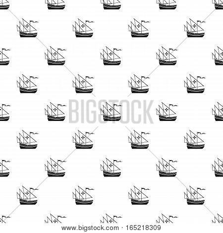 Columbus ship pattern. Simple illustration of Columbus ship vector pattern for web