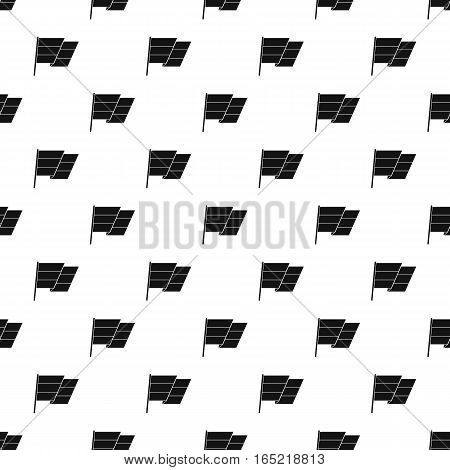 Flag on flagpole pattern. Simple illustration of flag on flagpole vector pattern for web