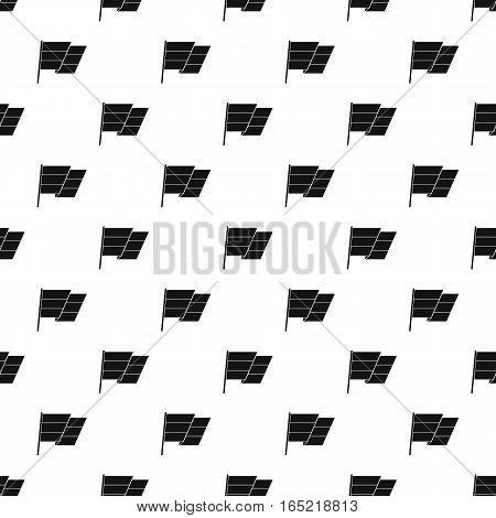 Flag on flagpole pattern. Simple illustration of flag on flagpole vector pattern for web